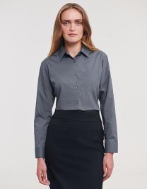 Ladies´ Long Sleeve Polycotton Poplin Shirt